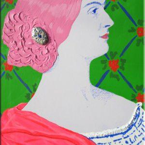 Lady Charlotte Elizabeth Stuart Canning.   100X150 cm.