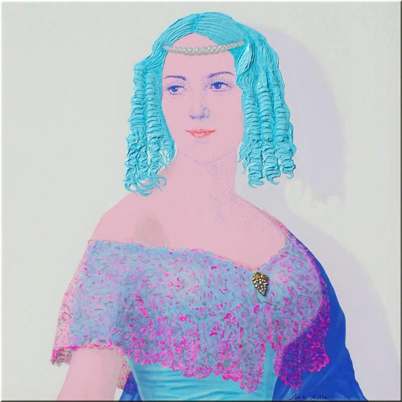 Elizabeth Barringer (Wethered) 80x80 cm.