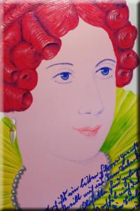 Annette von Droste-Hülshoff. Nach ein miniatuurporträt