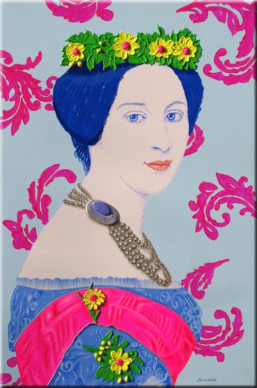 Alexandra von Sachsen-Altenburg 100X150 cm.