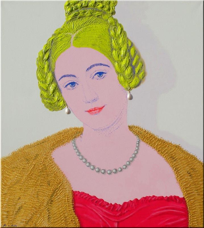 Caroline grafin von holnstein. 90x100 cm.