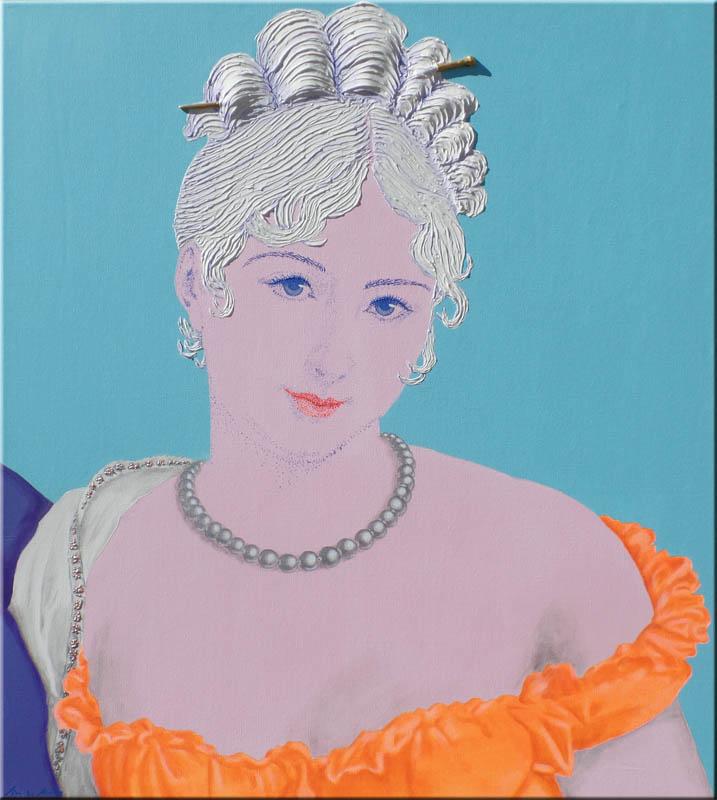 Madame - Juliette Récamier 90x100 cm.
