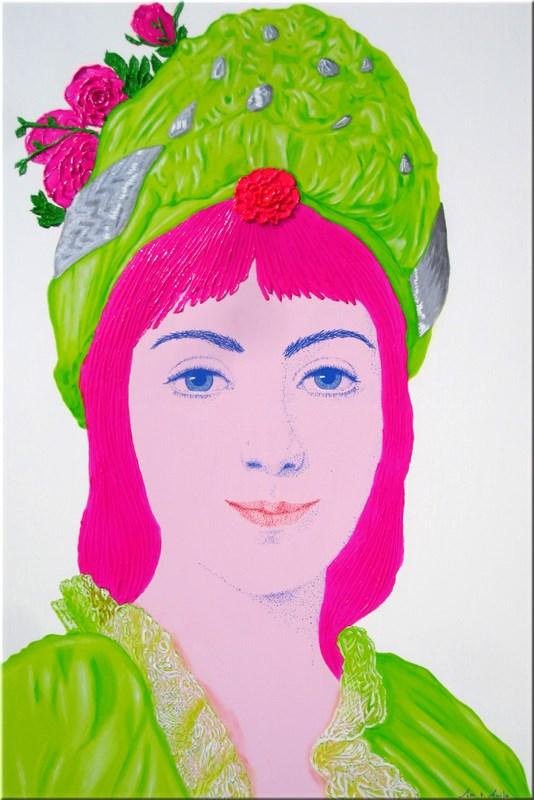 Zoie Ghika, Moldavian Princess. 100x150 cm.